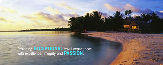 Providing exceptional travel experiences with excellence, integrity and passion.