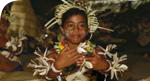 Kiribati dancing child